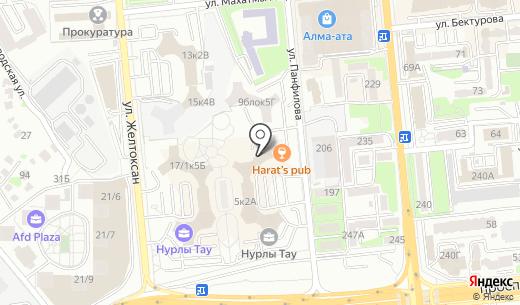 Бахор №1. Схема проезда в Алматы