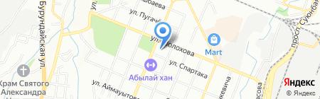 Школа-гимназия №83 на карте Алматы