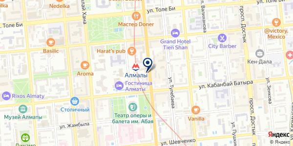 Тикетон на карте Алматы
