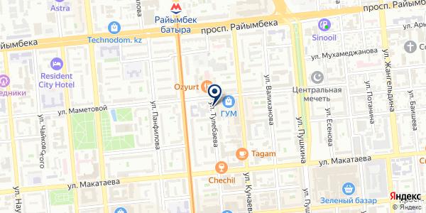 Алматинские тепловые сети, ТОО на карте Алматы