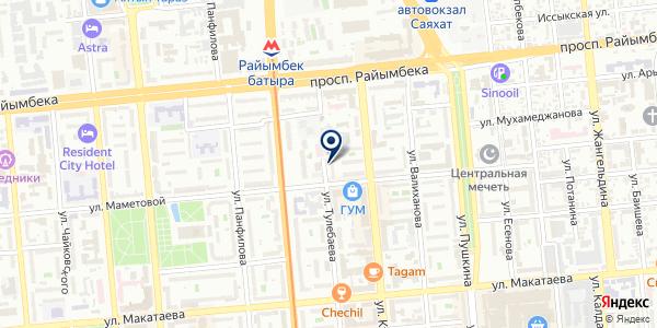 Daris-TTE на карте Алматы