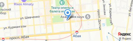 Ак-бата на карте Алматы