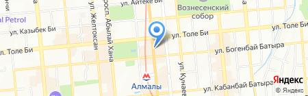 Святой Августин на карте Алматы