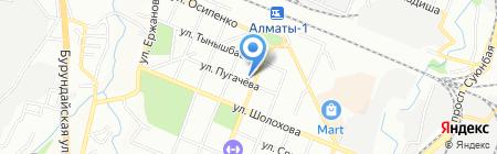 ИЕССЕЙ на карте Алматы