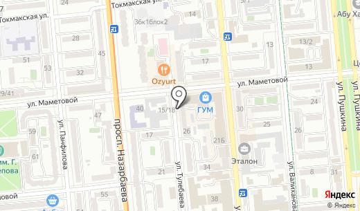 Premium Textile. Схема проезда в Алматы