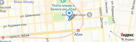 Парасат на карте Алматы
