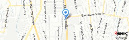 АДИК на карте Алматы