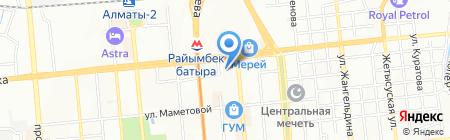 Заман-Банк на карте Алматы