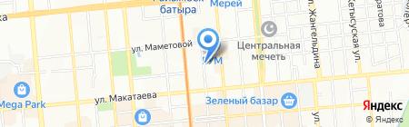 Аян на карте Алматы