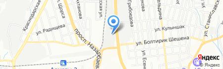 Алматинская городская организация казахского общества глухих на карте Алматы
