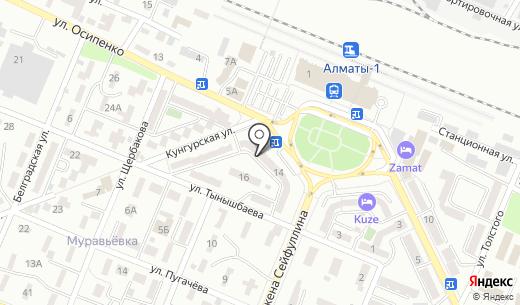 Банкомат Kaspi bank. Схема проезда в Алматы