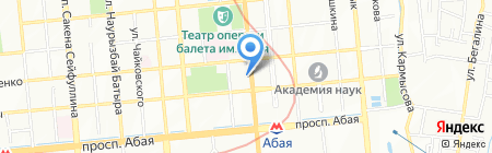 Алмаз на карте Алматы