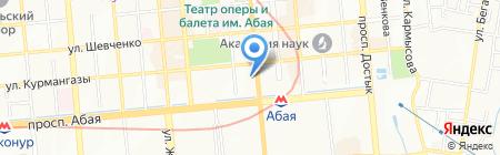 Школьные уроки на карте Алматы