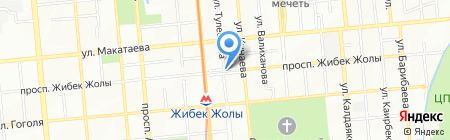Цветная на карте Алматы