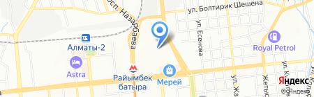 Нурбанк на карте Алматы
