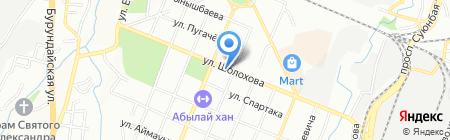 Оптика на ул. Шолохова на карте Алматы