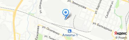 Мегаком-Жетысу KZ на карте Алматы