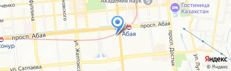 Line на карте Алматы