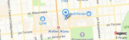 Бауырсак на карте Алматы