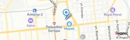 Пластилин на карте Алматы