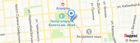 Гимназия №56 им. К. Сатпаева на карте Алматы