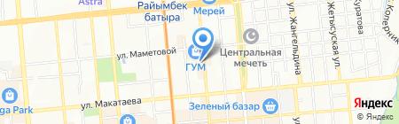 Алтынсу на карте Алматы