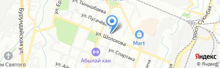 Юг на карте Алматы
