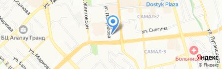 Нотариус Махажанова Э.Б. на карте Алматы