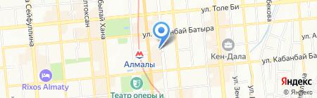 Мемориальная квартира Д.А. Кунаева на карте Алматы