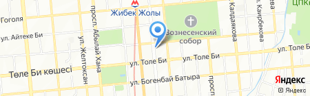 Нотариус Абдрахманова А.М. на карте Алматы