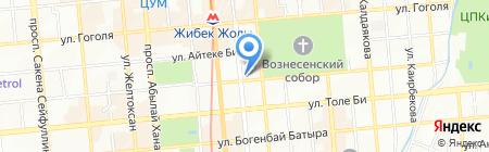 Нотариус Каждаров Б.Т. на карте Алматы