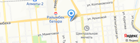 Зевс Трэвел на карте Алматы