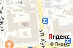 Схема проезда до компании Lingua Franca в Алматы