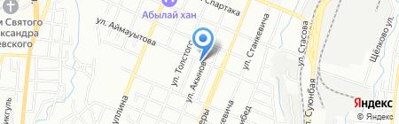 Крона на карте Алматы