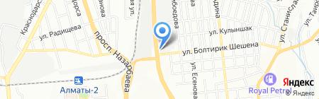 Достар и К на карте Алматы