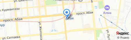 Нотариус Косымбаева Г.К. на карте Алматы