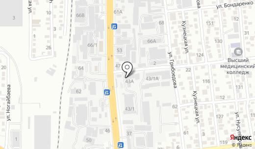 S.T.MASTER. Схема проезда в Алматы