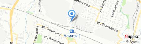 Алей на карте Алматы