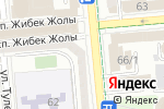 Схема проезда до компании Zhabel в Алматы