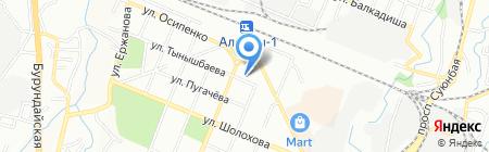Нотариус Жамалбеков С.Б. на карте Алматы