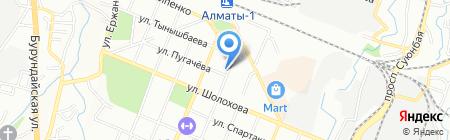 Отделение административной практики отдела административной полиции УВД Турксибского района ДВД г. Алматы на карте Алматы