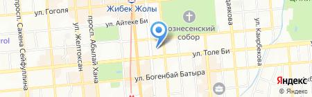 Американский бар и гриль на карте Алматы