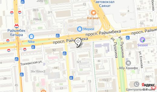 Автомагазин. Схема проезда в Алматы