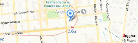 Worldhotel Saltanat Almaty на карте Алматы