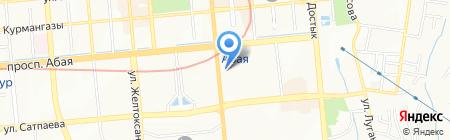 Пункт замены масла на проспекте Абая на карте Алматы