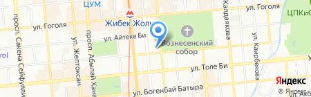 Динамо на карте Алматы