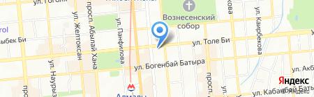 Кастек на карте Алматы