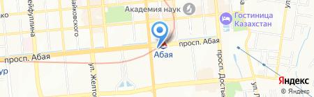 UIB на карте Алматы