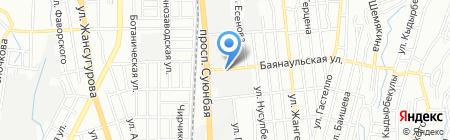 Пункт замены масла на проспекте Суюнбая на карте Алматы