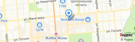 Марина на карте Алматы